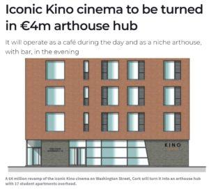 Iconic Kino cinema to be turned in €4m arthouse hub