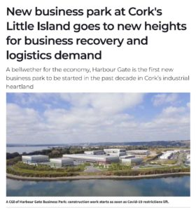 New business park at Cork's Little Island goes to new heights for business recovery and logistics demand